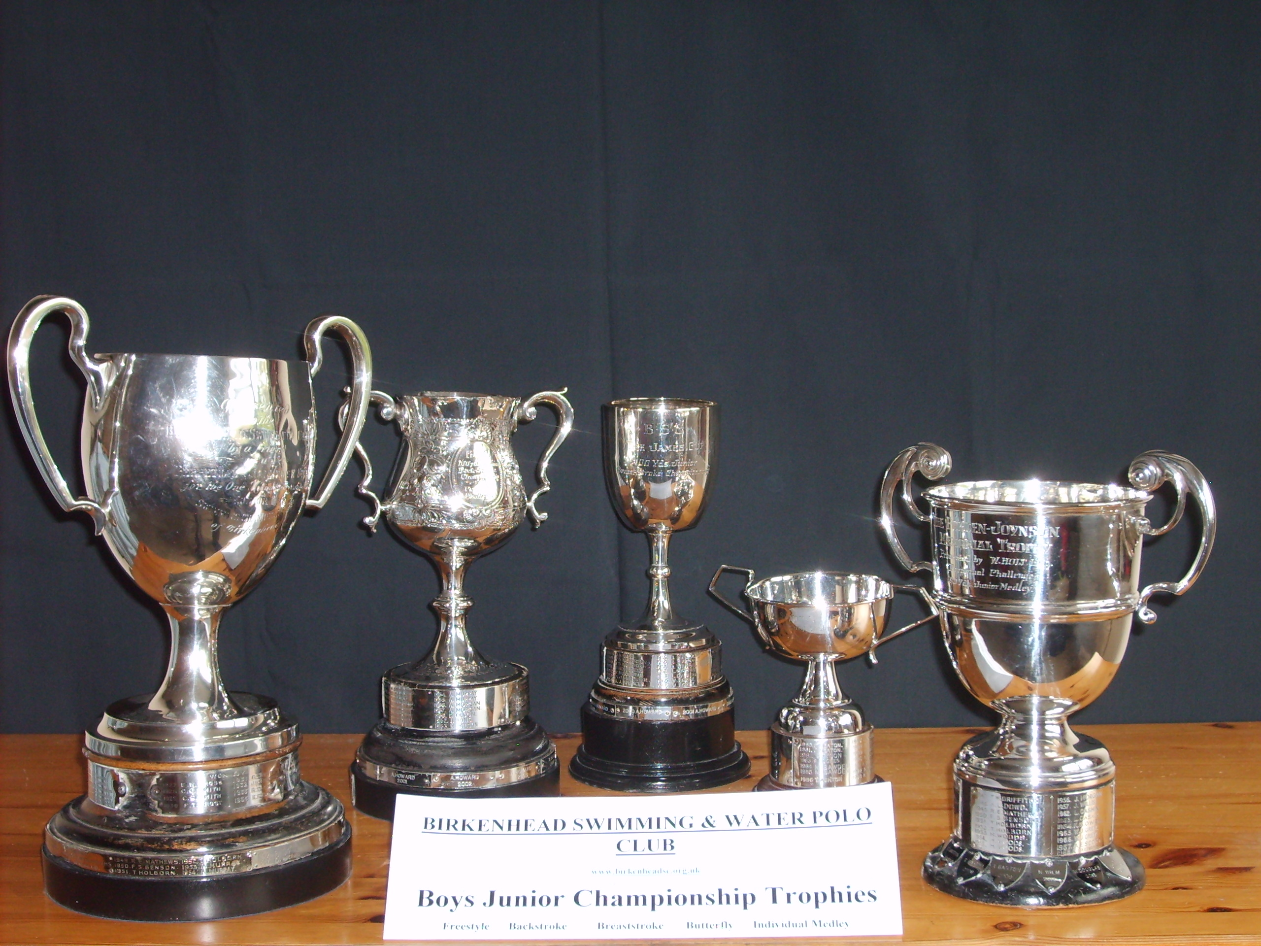 Boys Junior Championship Trophies
