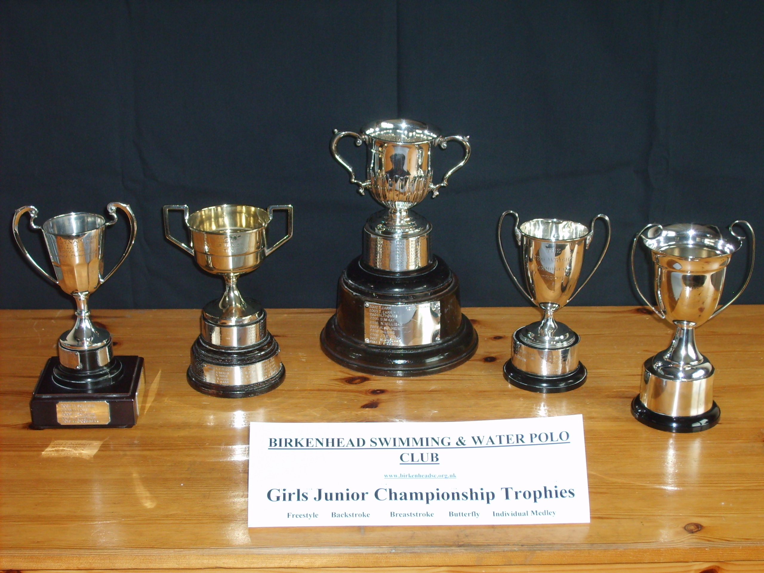 Girls Junior Championship Trophies