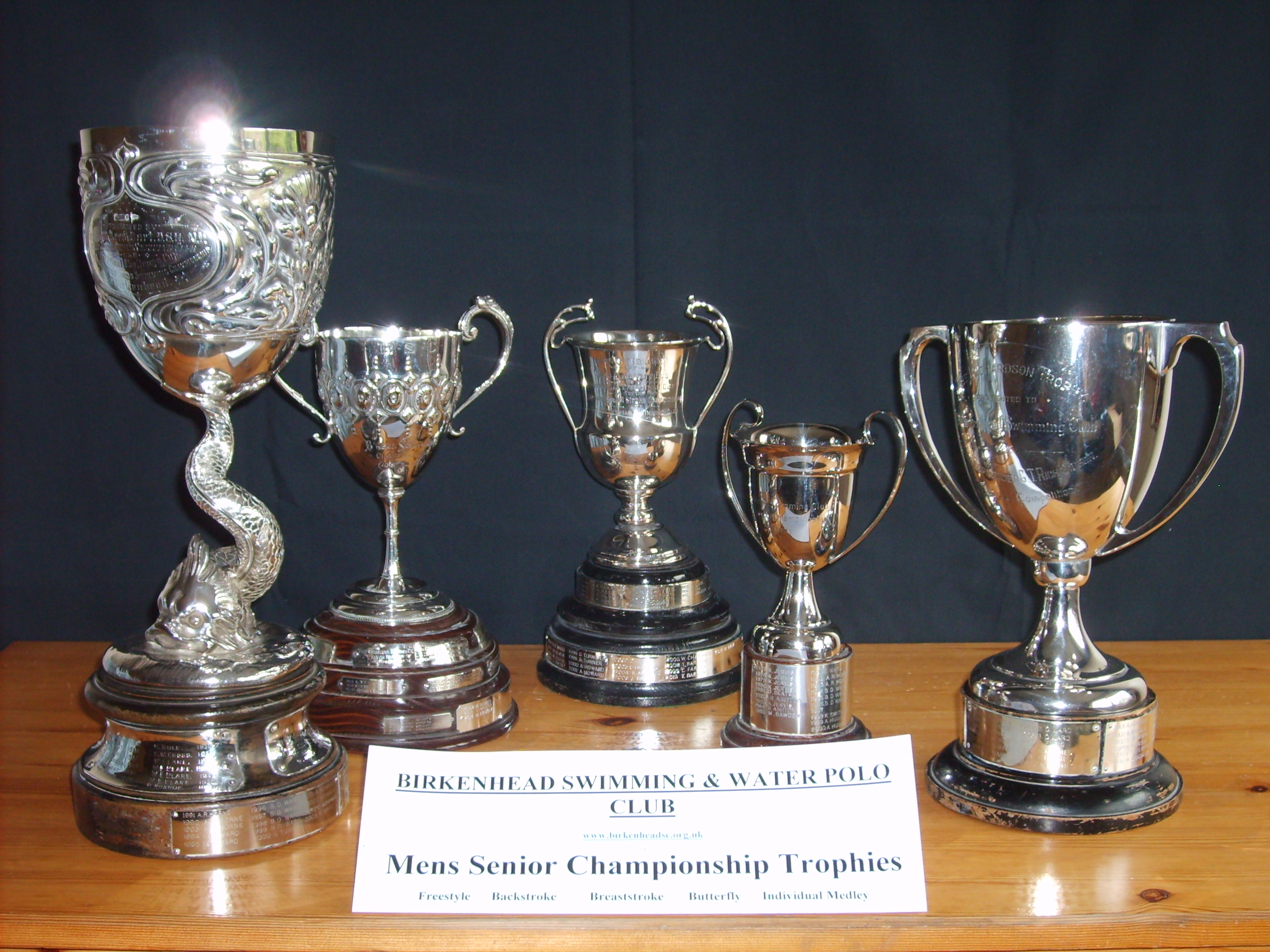 Mens Senior Championship Trophies